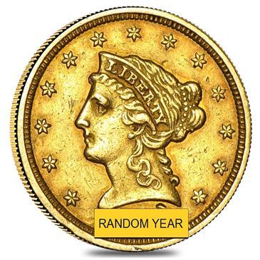 BX products $2.5 Gold Quarter Eagle Liberty Head - Ex Jewelry (Random Year)