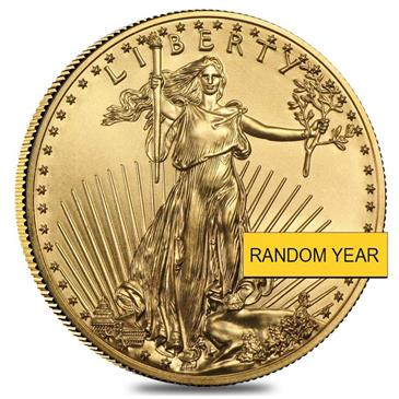 BX products 1/10 oz Gold American Eagle $5 Coin BU (Random Year)