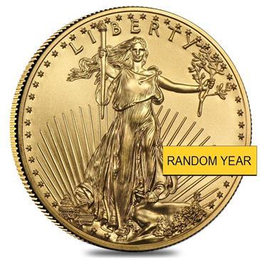 BX products 1/2 oz Gold American Eagle $25 Coin BU (Random Year)