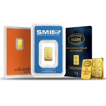 BX products 1 gram Generic Gold Bar .999+ Fine (IRA-approved, Secondary Market)