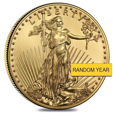 BX products 1 oz Gold American Eagle $50 Coin BU (Random Year)
