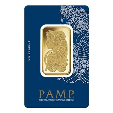 BX products 1 oz Gold Bar PAMP Suisse Lady Fortuna Veriscan .9999 Fine (In Assay)
