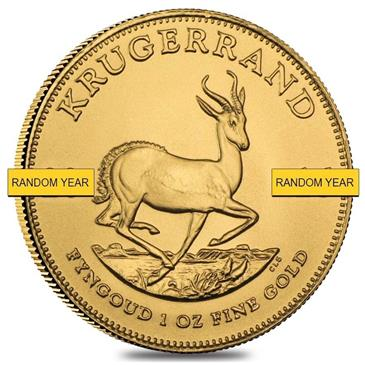 BX products 1 oz South African Krugerrand Gold Coin (Random Year)