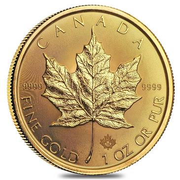 BX products 2019 1 oz Canadian Gold Maple Leaf $50 Coin .9999 Fine BU